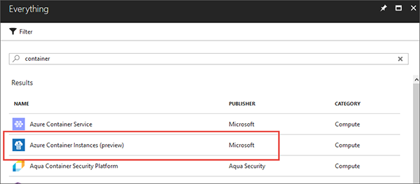 Azure容器实例的基础知识